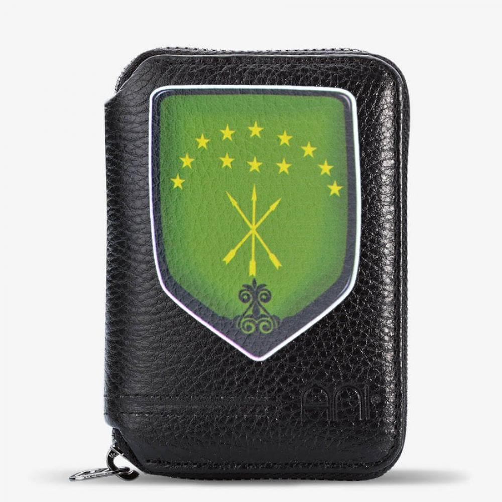 2729bdc97c690 Siyah Renk Adige Bayrak Fermuarlı Kartlık Cüzdan - 796-G-01